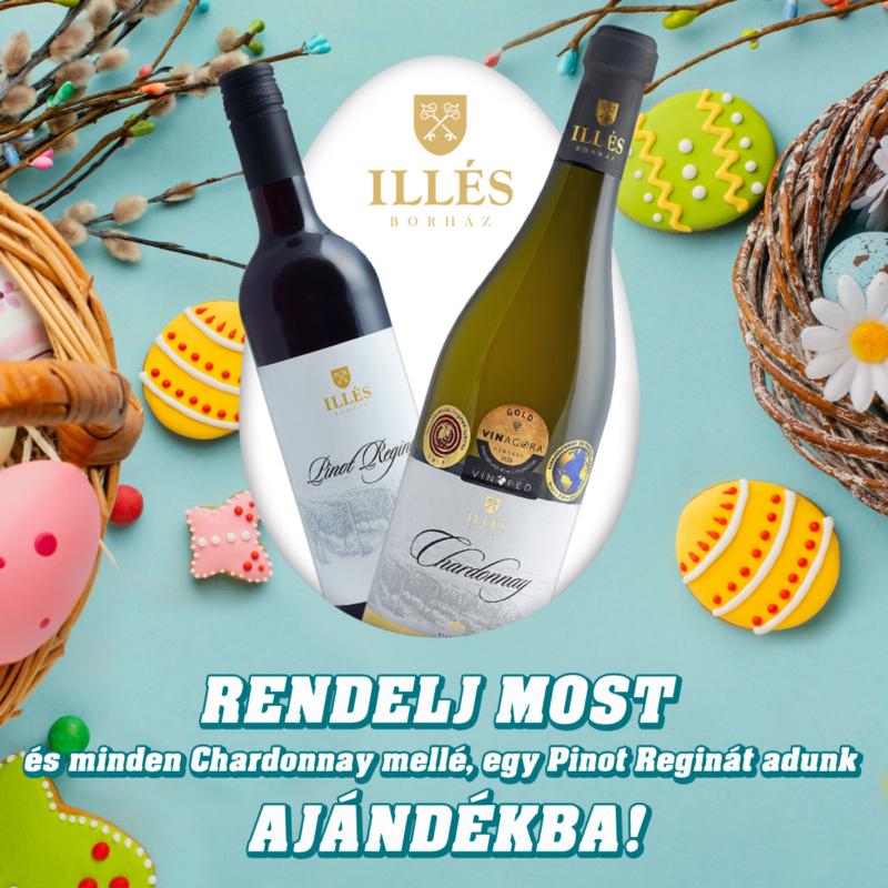 Chardonnay 2019 -  0,75 l + Ajándék Pinot Regina 2019 - 0,75 l